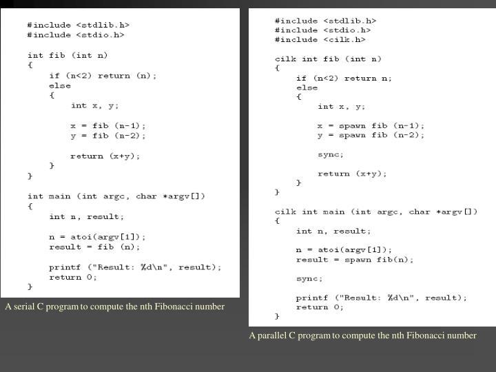 A serial C program