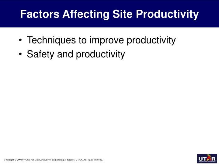 Factors Affecting Site Productivity