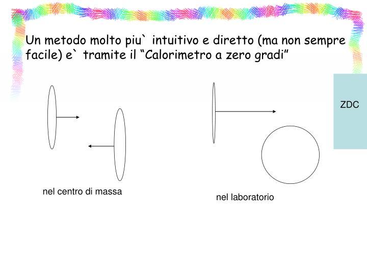 """Un metodo molto piu` intuitivo e diretto (ma non sempre facile) e` tramite il """"Calorimetro a zero gradi"""""""