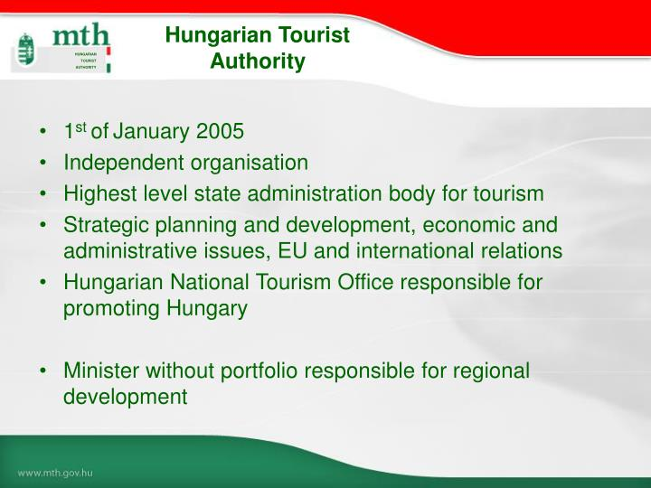 Hungarian tourist authority