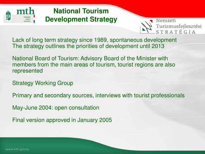 National Tourism Development Strategy