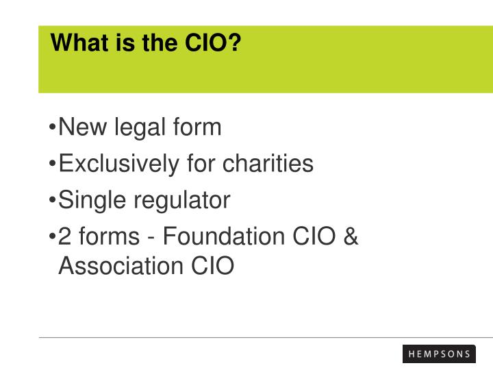 What is the cio