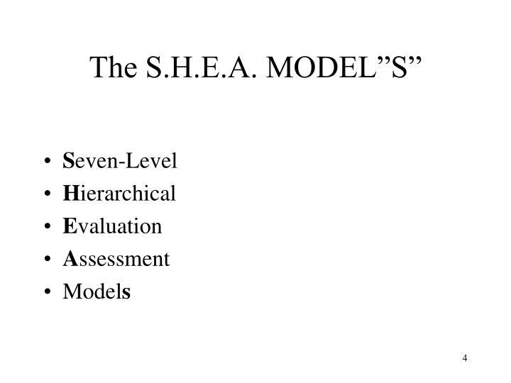 """The S.H.E.A. MODEL""""S"""""""