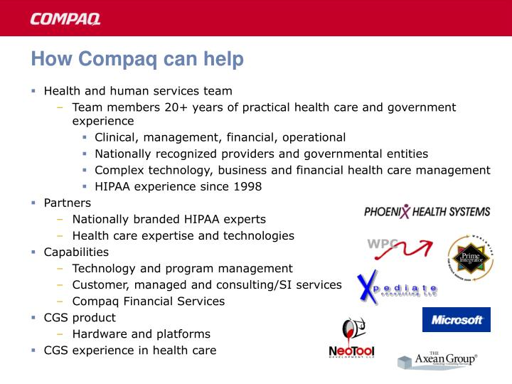 How Compaq can help