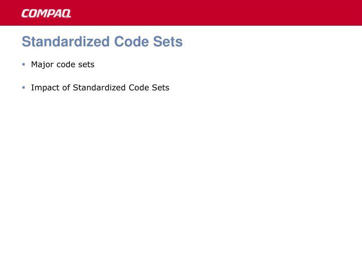 Standardized Code Sets
