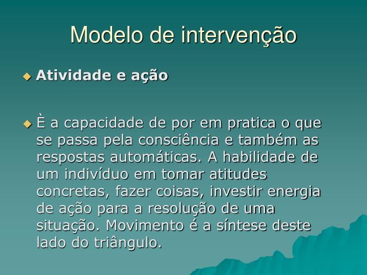 Modelo de intervenção