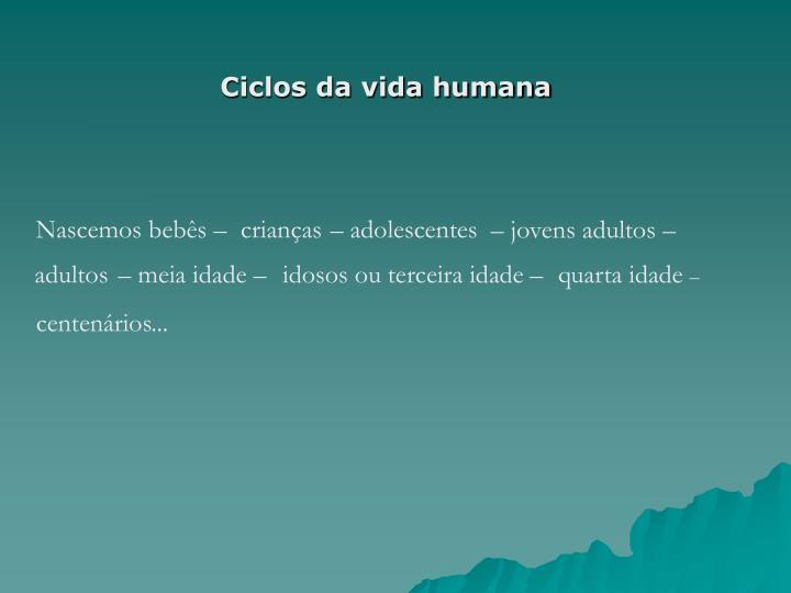 Ciclos da vida humana