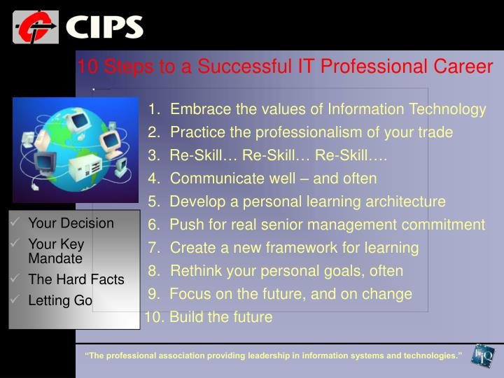 10 Steps to a Successful IT Professional Career