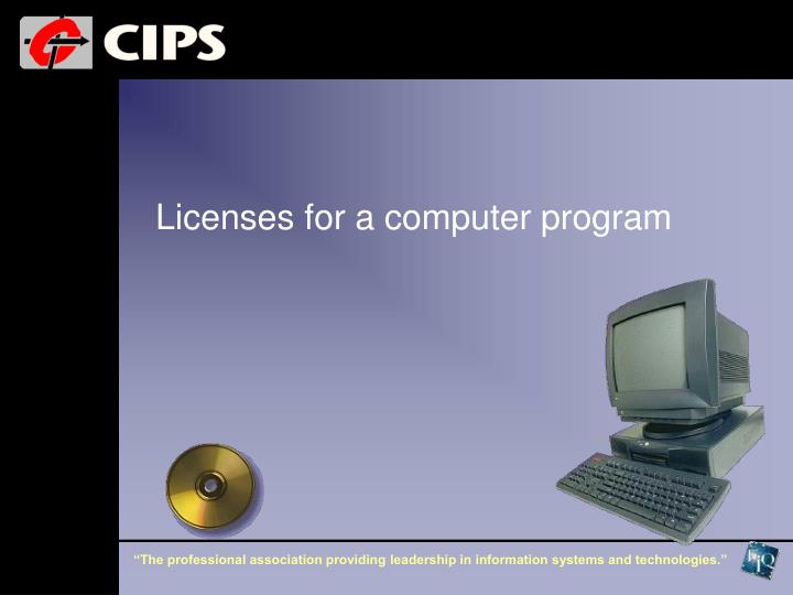 Licenses for a computer program
