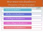 perspective of project evaluation