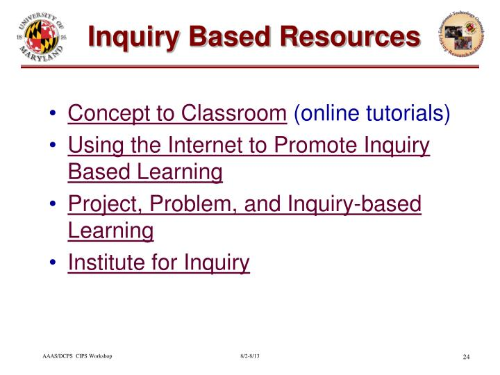 Inquiry Based Resources