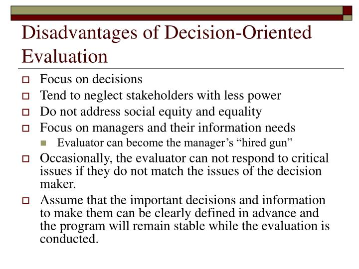 ppt decision oriented evaluation approaches powerpoint