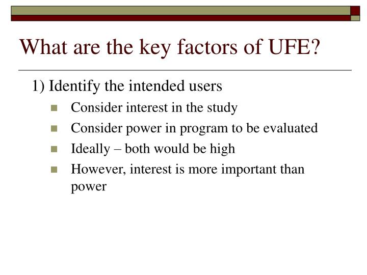 What do you mean by Key Factor Analysis?