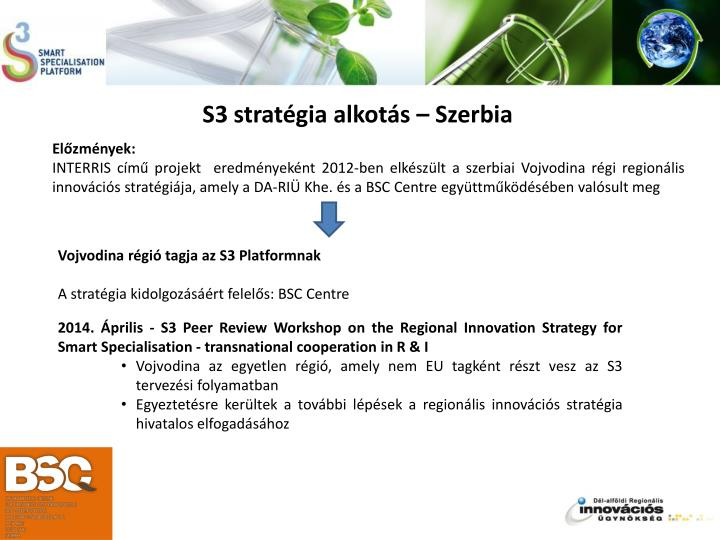 S3 stratégia alkotás – Szerbia