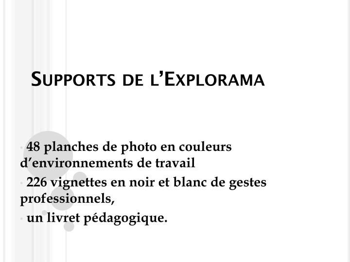Supports de l'Explorama