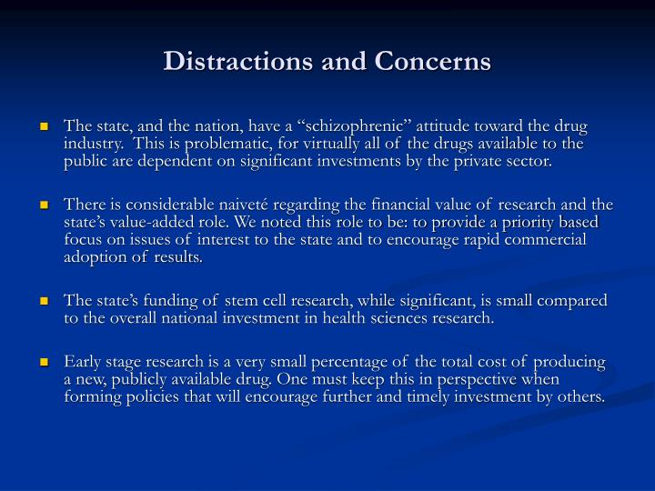 Distractions and Concerns