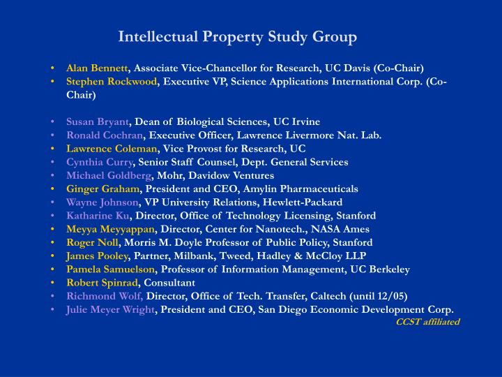 Intellectual Property Study Group