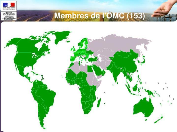 Membres de l'OMC (153)