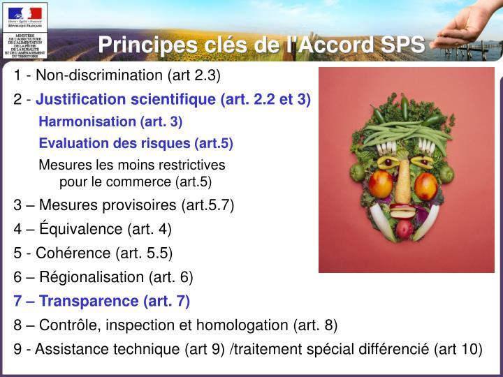 Principes clés de l'Accord SPS