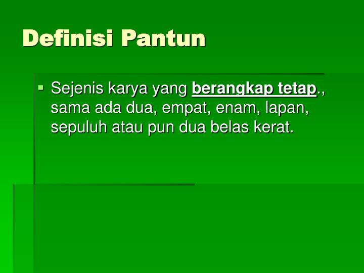 Definisi Pantun