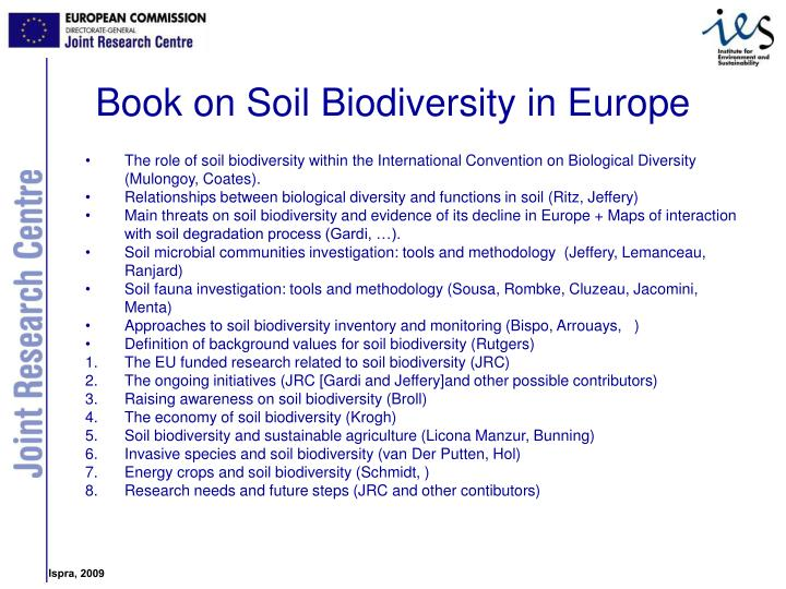 Book on Soil Biodiversity in Europe