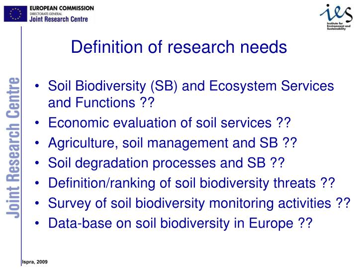 Soil Biodiversity (SB) and Ecosystem Services and Functions ??