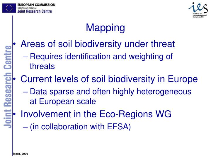 Areas of soil biodiversity under threat