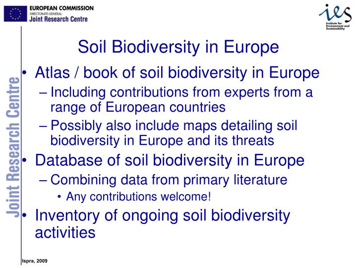Atlas / book of soil biodiversity in Europe