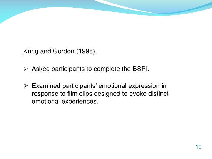 Kring and Gordon (1998)
