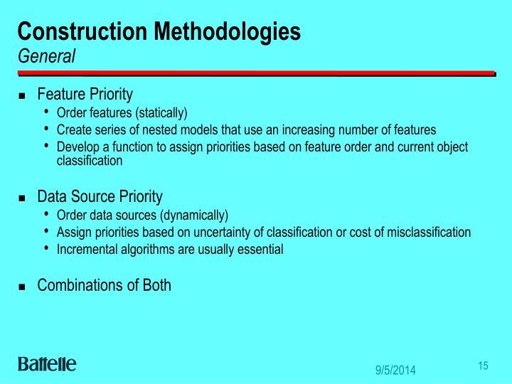 Construction Methodologies