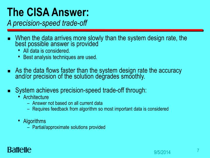 The CISA Answer: