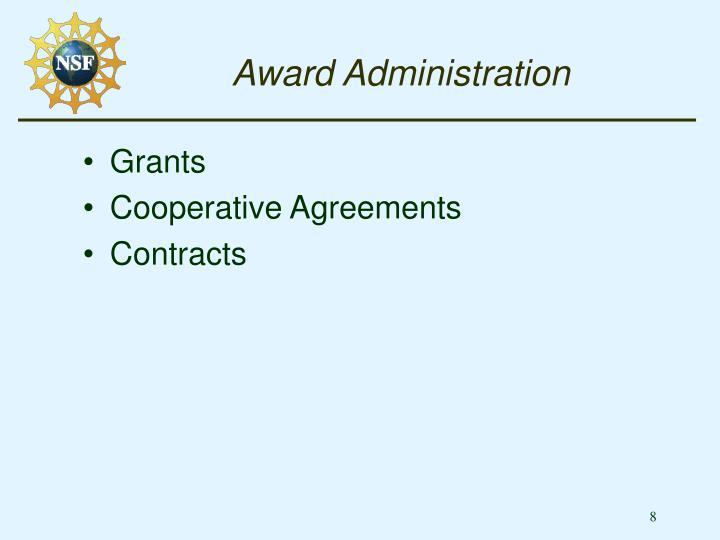 Award Administration