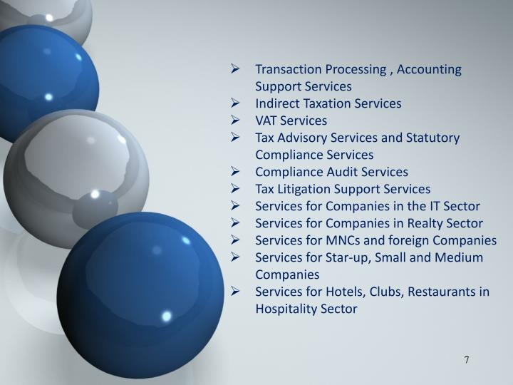 Transaction Processing , Accounting Support Services
