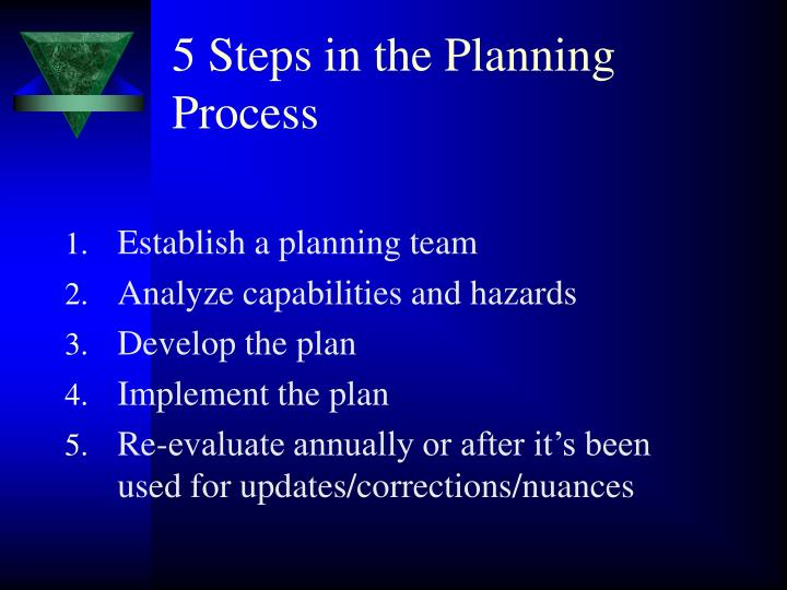 5 Steps in the Planning Process