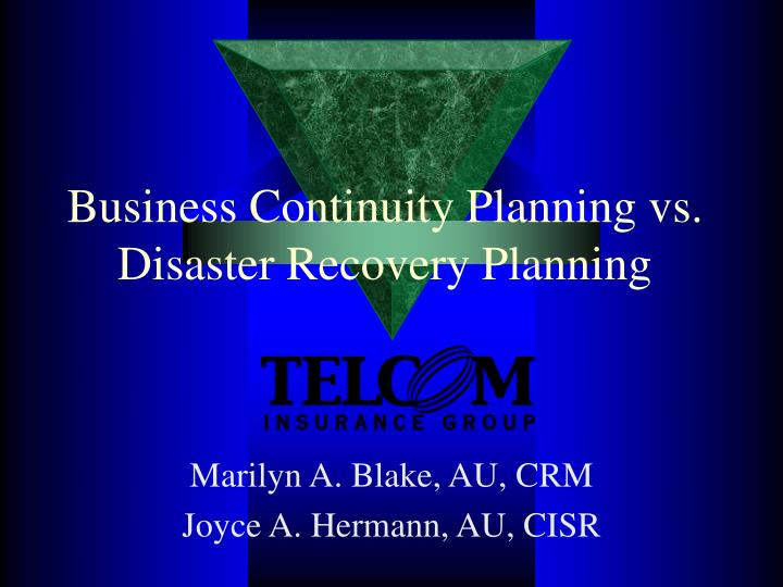 Business continuity planning vs disaster recovery planning