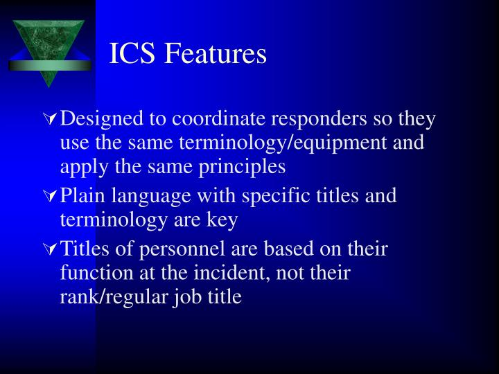 ICS Features