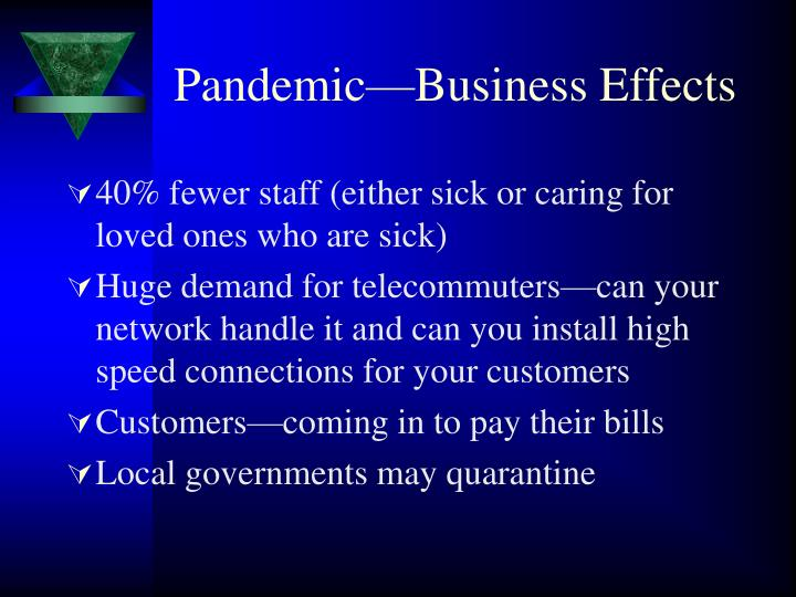 Pandemic—Business Effects