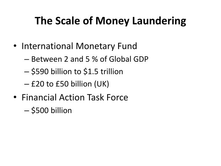 The Scale of Money Laundering