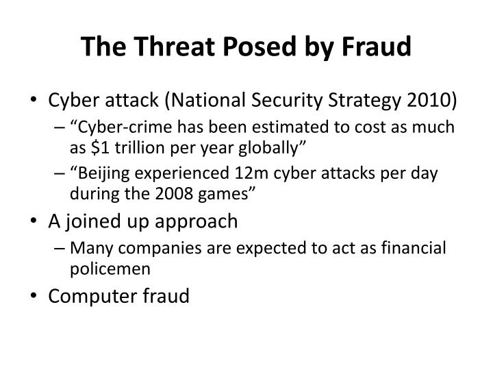 The Threat Posed by Fraud