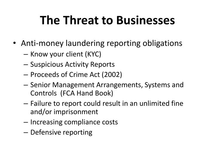 The Threat to Businesses