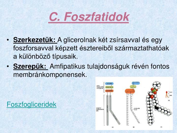 C. Foszfatidok