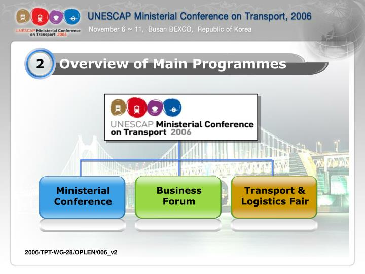Overview of Main Programmes