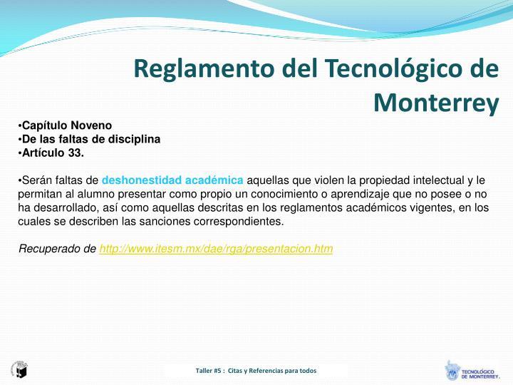 Reglamento del Tecnológico de Monterrey