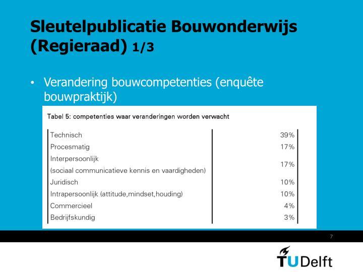 Sleutelpublicatie Bouwonderwijs (Regieraad)