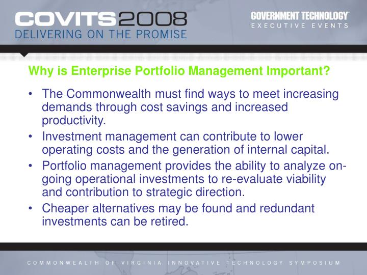 Why is enterprise portfolio management important