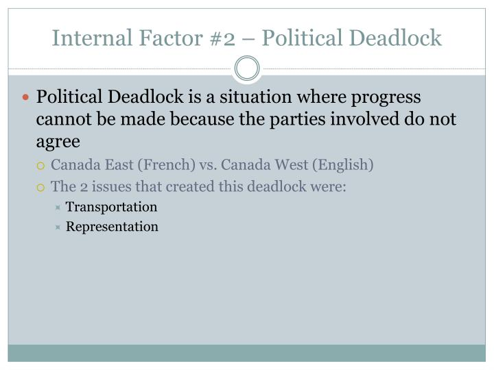 Internal Factor #2 – Political Deadlock