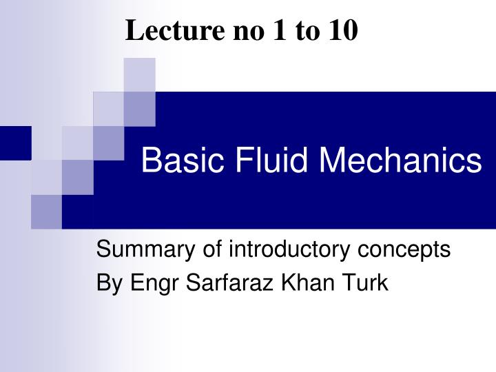 Lecture no 1 to 10