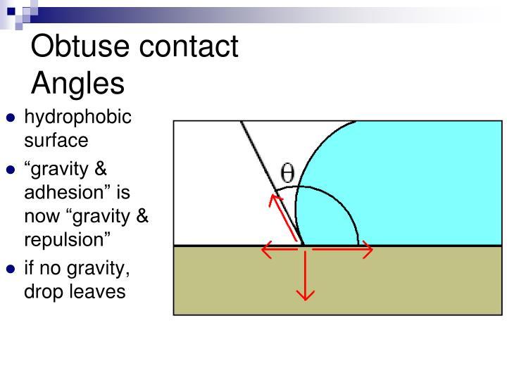 Obtuse contact