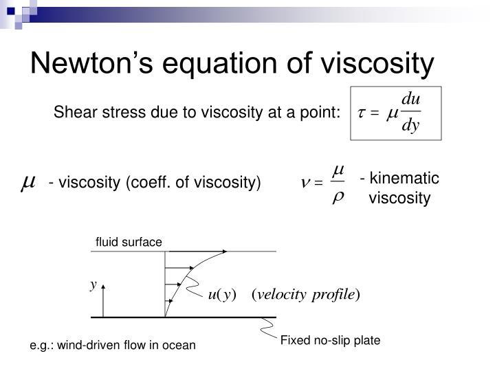 Newton's equation of viscosity