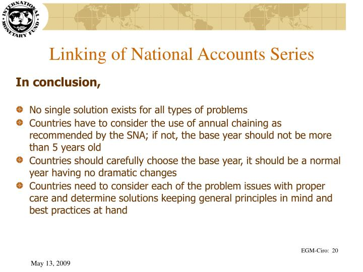 Linking of National Accounts Series